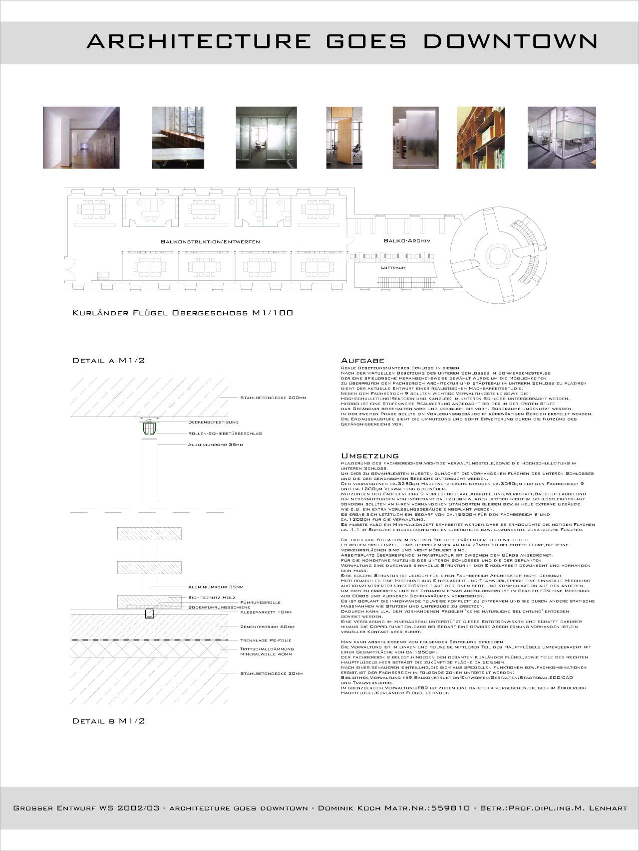 Architecture goes downtown ws0203 lab42 for Uni architektur